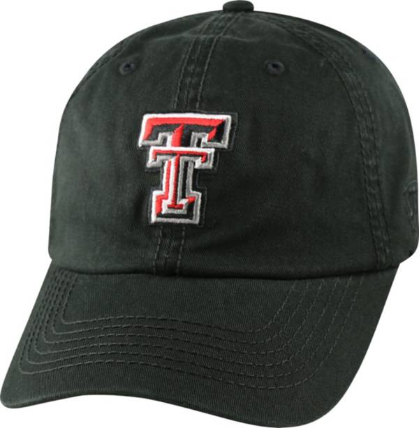 Top of the World Men's Texas Tech Red Raiders Black Crew Adjustable Hat product image