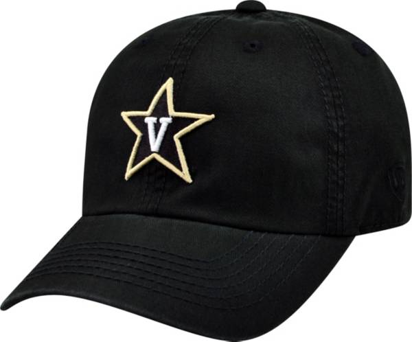 Top of the World Men's Vanderbilt Commodores Black Crew Adjustable Hat product image
