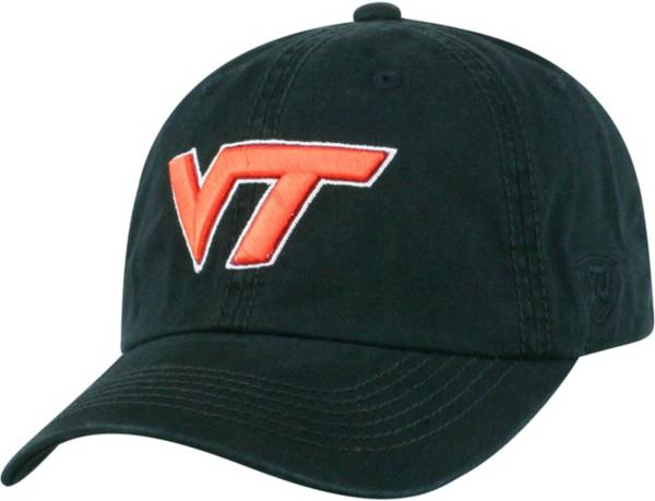 Top of the World Men's Virginia Tech Hokies Black Crew Adjustable Hat product image