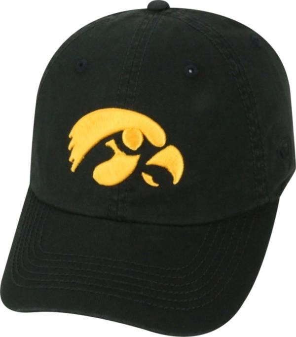Top of the World Men's Iowa Hawkeyes Black Crew Adjustable Hat product image