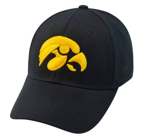 Top of the World Men's Iowa Hawkeyes Black Premium Collection M-Fit Hat product image