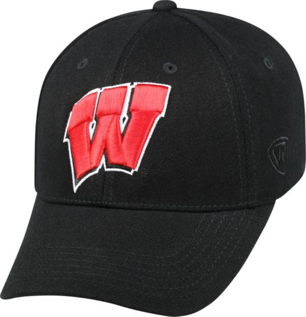 Top of the World Men's Wisconsin Badgers Black Premium Collection M-Fit Hat product image
