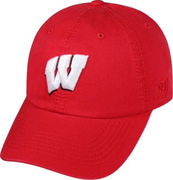 Top of the World Men's Wisconsin Badgers Red Crew Adjustable Hat product image