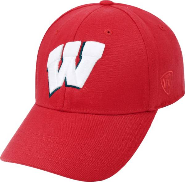 Top of the World Men's Wisconsin Badgers Red Premium Collection M-Fit Hat product image