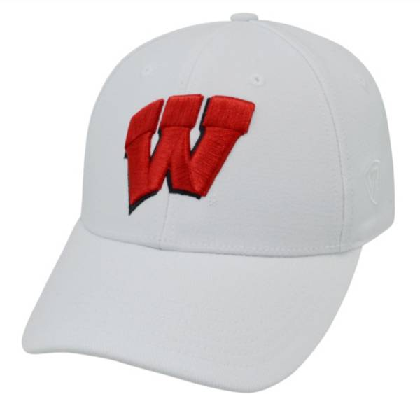 Top of the World Men's Wisconsin Badgers White Premium Collection M-Fit Hat product image