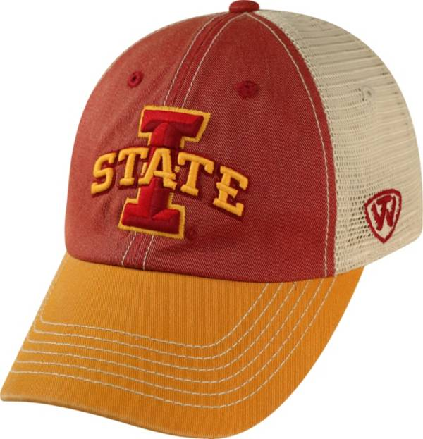 Top of the World Men's Iowa State Cyclones Cardinal/White/Gold Off Road Adjustable Hat product image