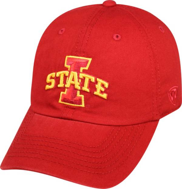 Top of the World Men's Iowa State Cyclones Cardinal Crew Adjustable Hat product image