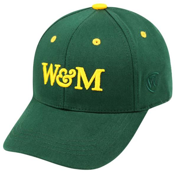 Top of the World Youth William & Mary Tribe Green Rookie Hat product image