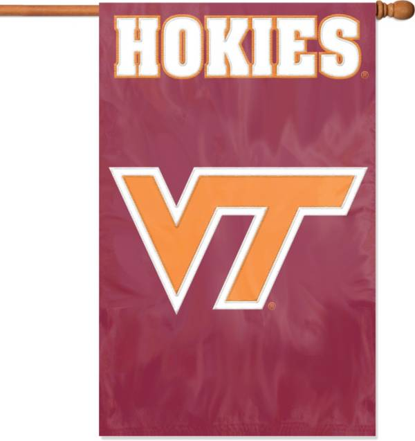 The Party Animal Virginia Tech Hokies Applique Banner Flag product image