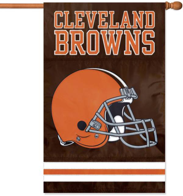 The Party Animal Cleveland Browns Applique Banner Flag product image