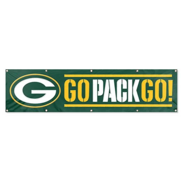Green Bay Packers Go Pack Go Giant 8 X 2 Banner Dick S Sporting Goods