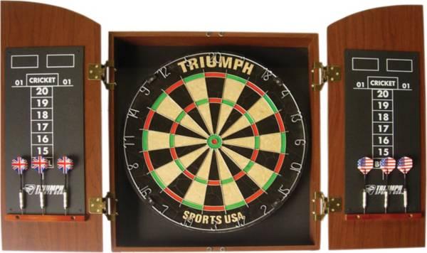 Triumph Wellington Bristle Dartboard and Cabinet Set product image