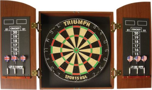 Triumph Wellington Bristle Dartboard And Cabinet Set Dicks