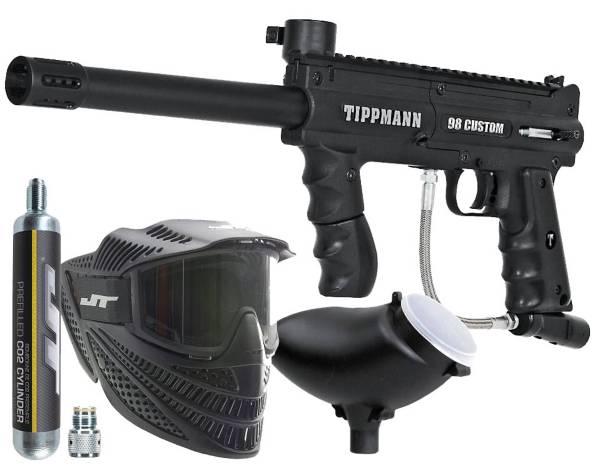 Tippmann 98 Custom PowerPack Paintball Gun Kit – 90 Gram C02 product image
