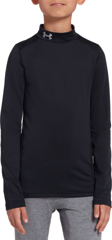 Under Armour Boys' ColdGear Armour Mock Neck Long Sleeve Shirt product image
