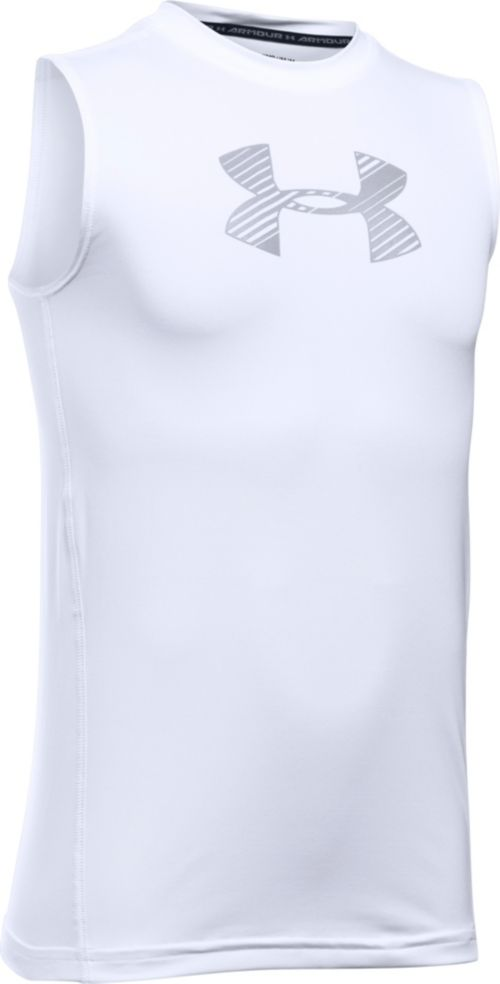 6f6555fe2ccc3 Under Armour Boys  HeatGear Armour Fitted Sleeveless Shirt. noImageFound.  Previous