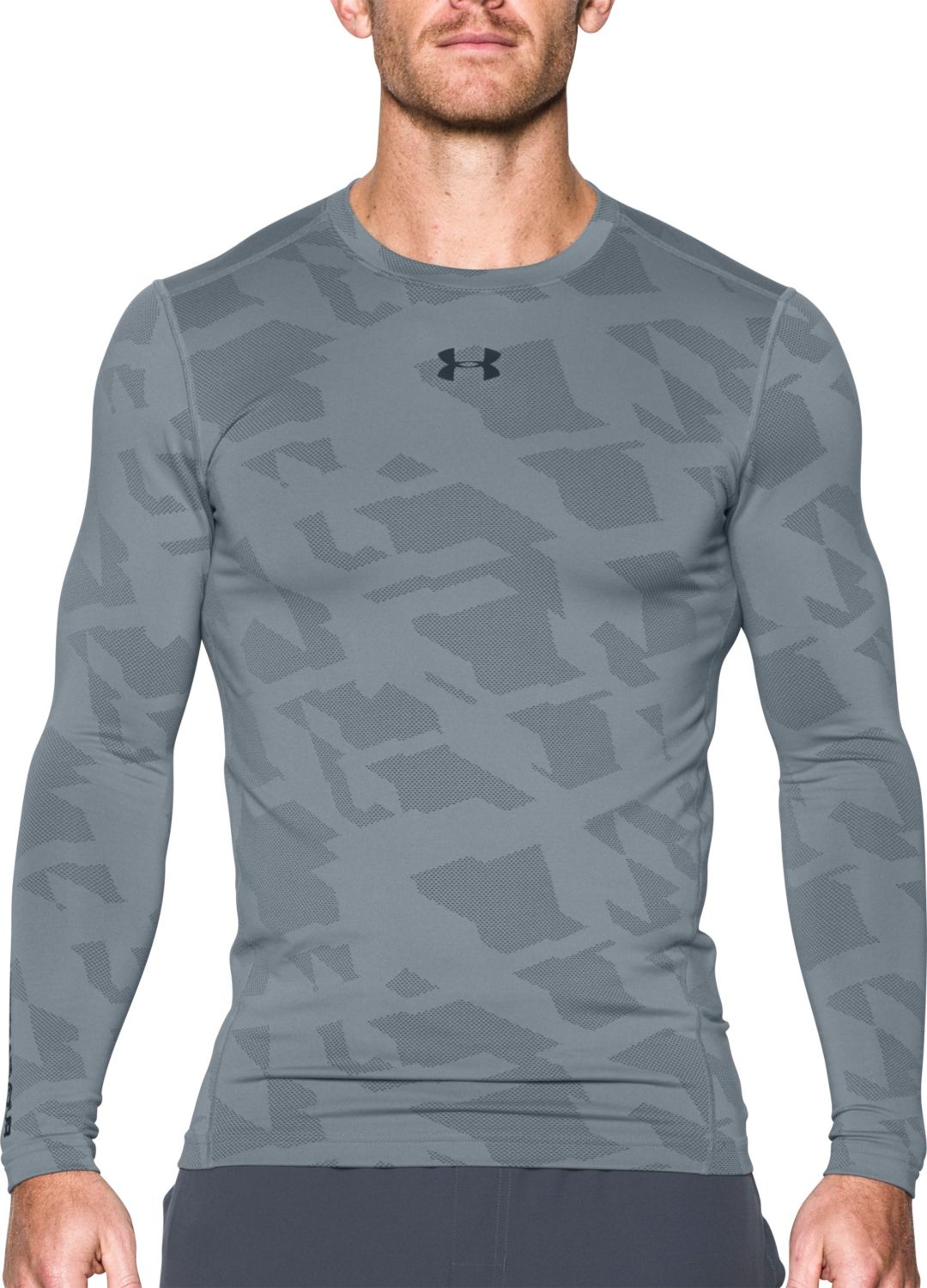 5ad05510 Under Armour Men's ColdGear Jacquard Compression Crewneck Long Sleeve Shirt.  noImageFound. Previous