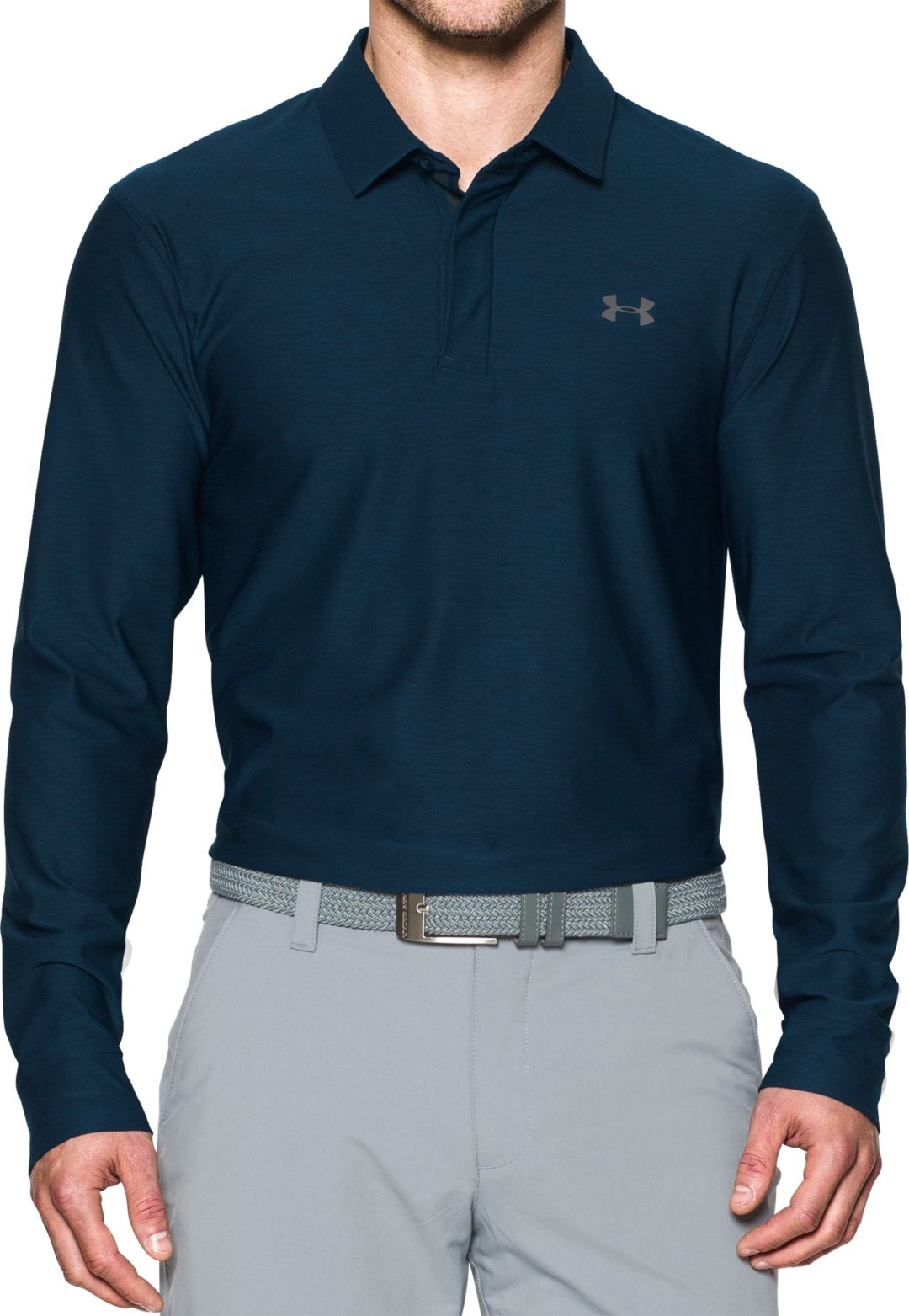 pretty nice 889b6 52638 Under Armour Men s Long Sleeve Golf Polo   DICK S Sporting Goods