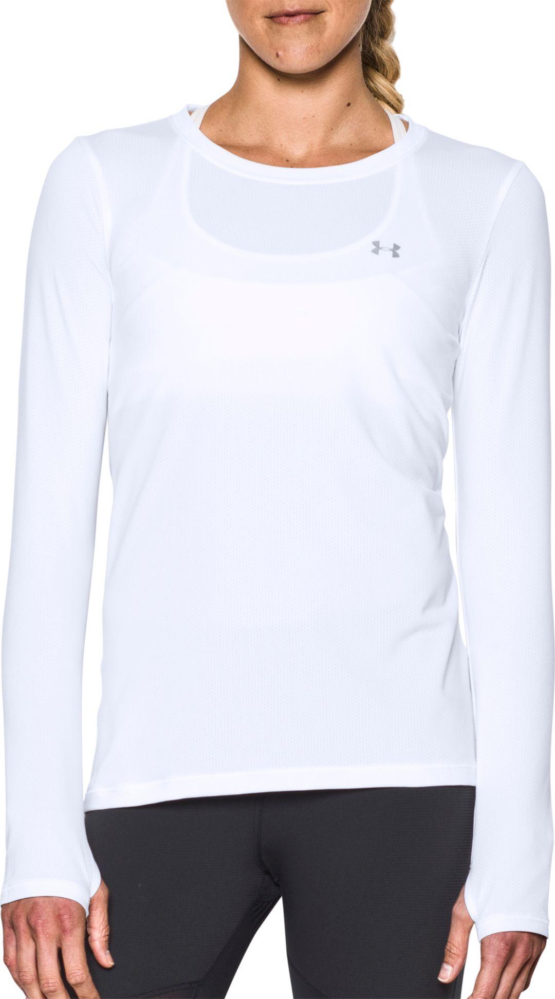 95dbb295 Under Armour Women's HeatGear Armour Long Sleeve Shirt | DICK'S ...