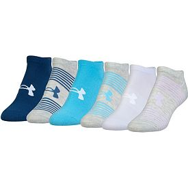 b367002030 Under Armour Women's Essential No Show Liner Socks 6 Pack