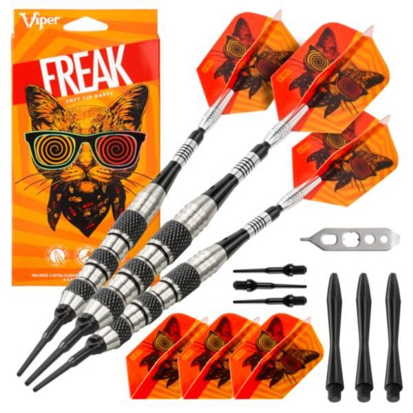 Viper Freak 18g Knurled and Shark Fin Barrel Soft Tip Darts product image