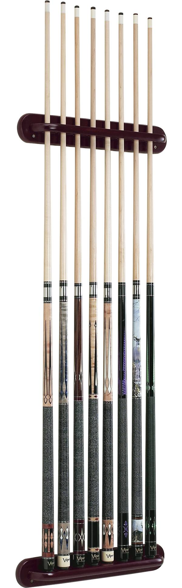 Viper Traditional Eight Cue Mahogany Wall Cue Rack product image