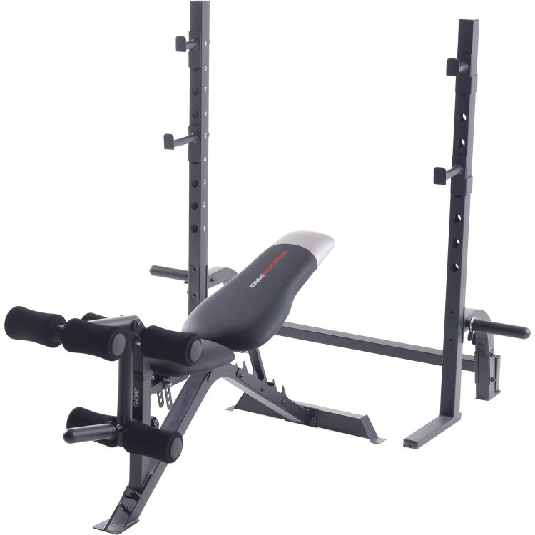 Gold s gym xrs olympic workout bench with squat rack