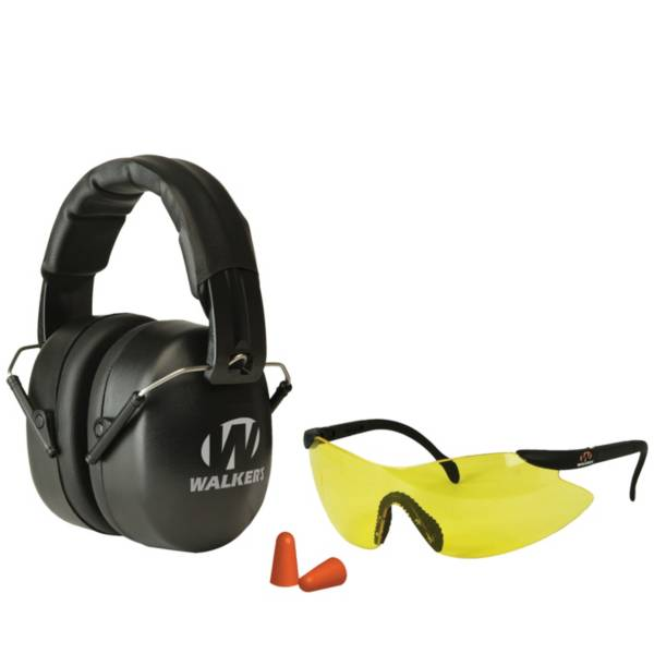 Walker's Game Ear EXT Range Folding Shooting Earmuffs and Glasses Combo product image