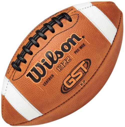 b8e85b317a Wilson GST Leather Pee Wee Football | DICK'S Sporting Goods
