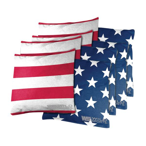 Wild Sports Stars and Stripes Cornhole Bean Bags product image