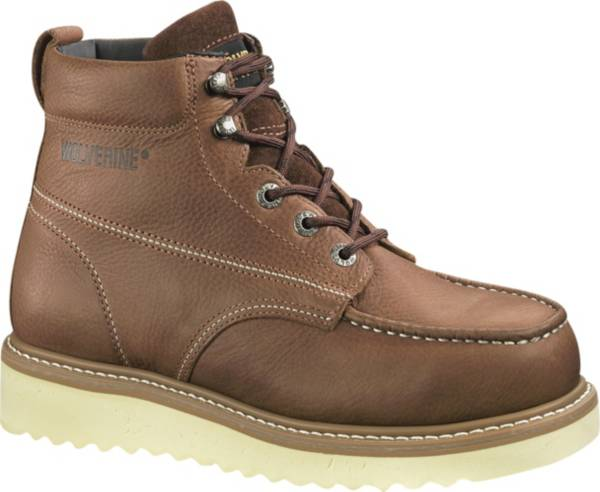 """Wolverine Men's Moc-Toe Wedge 6"""" Wide Steel Toe Work Boots product image"""