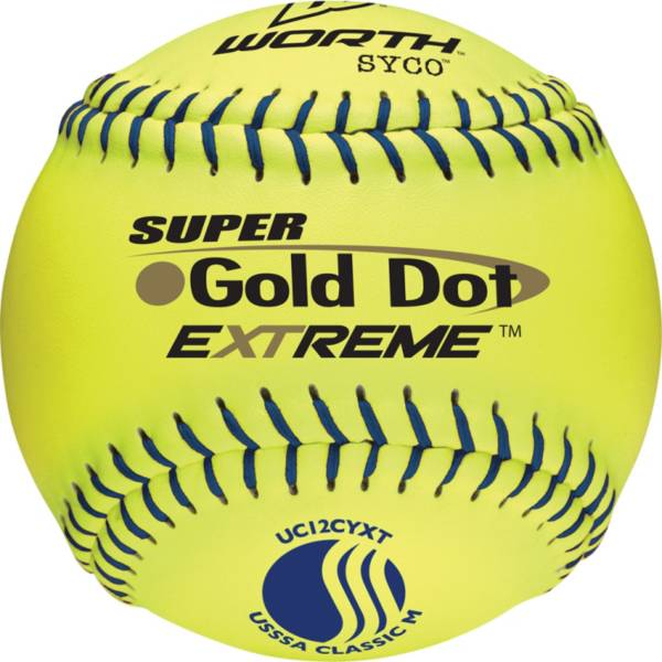 """Worth 12"""" USSSA Super Gold Dot EXTREME Slow Pitch Softball product image"""