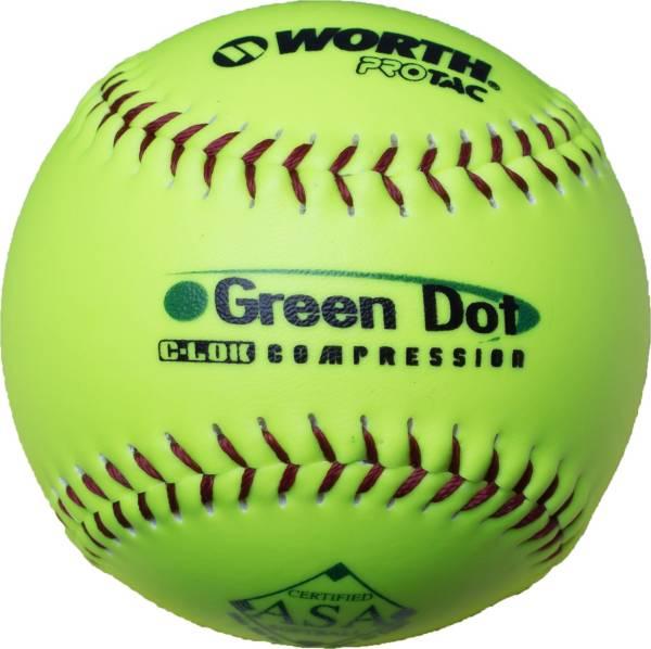 """Worth 11"""" ASA Green Dot Slow Pitch Softball product image"""