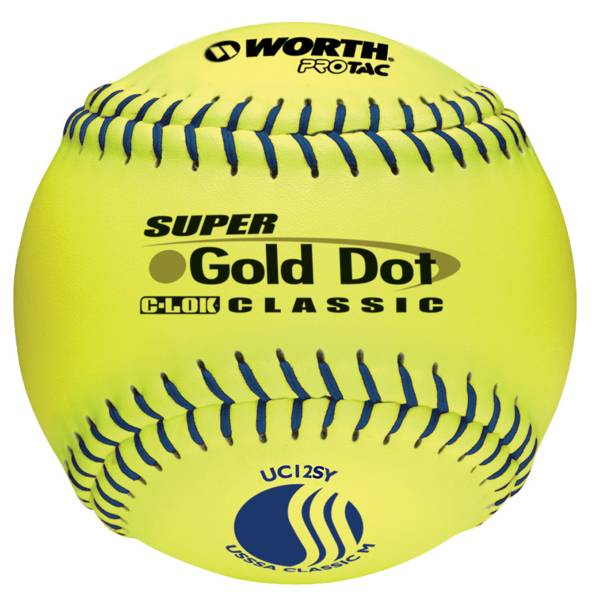 "Worth 12"" USSSA Super Gold Dot Slow Pitch Softball product image"