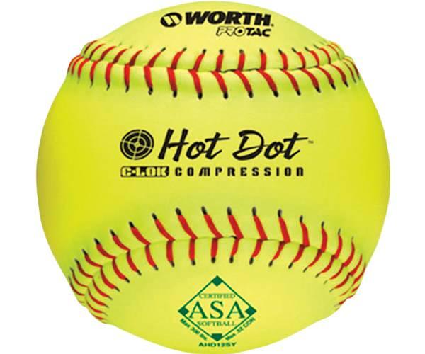 """Worth 12"""" ASA Hot Dot Slow Pitch Softball product image"""