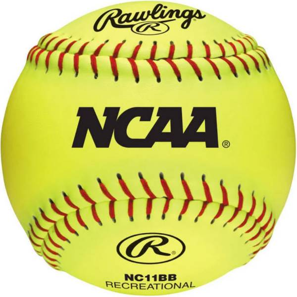 """Rawlings 11"""" NCAA Fastpitch Softballs - 6 Pack product image"""