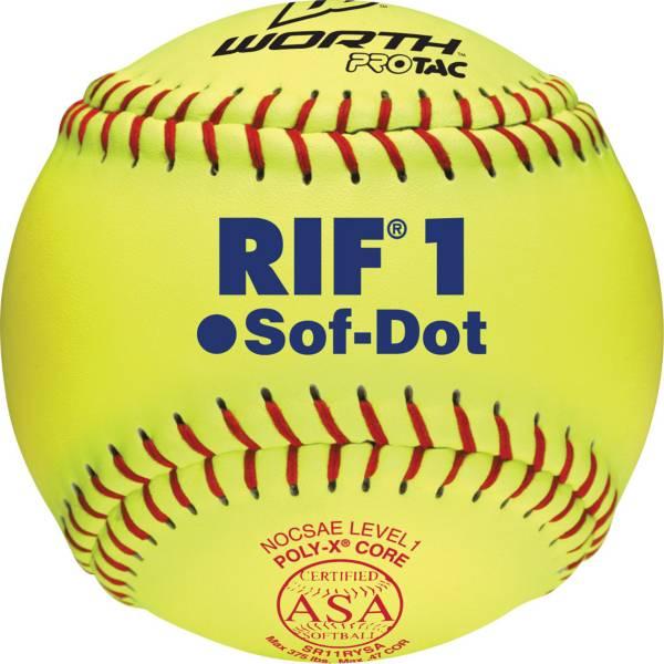 """Worth 11"""" ASA Sof-Dot RIF Safety Fastpitch Softball product image"""