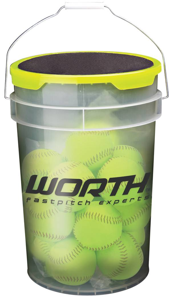 """Worth 12"""" Practice Fastpitch Softball Bucket - 12 Pack product image"""