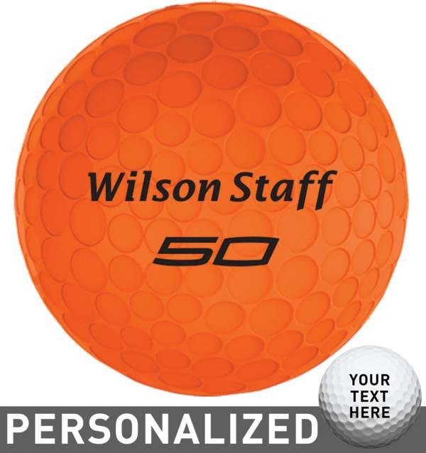 Wilson Staff Fifty Elite Orange Personalized Golf Balls product image