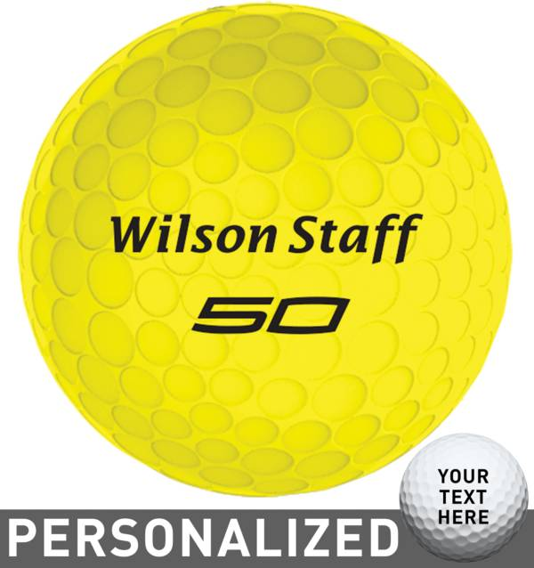 Wilson Staff Fifty Elite Yellow Personalized Golf Balls product image