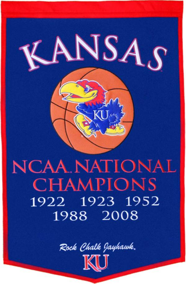 Winning Streak NCAA Kansas Jayhawks Man Cave Banner
