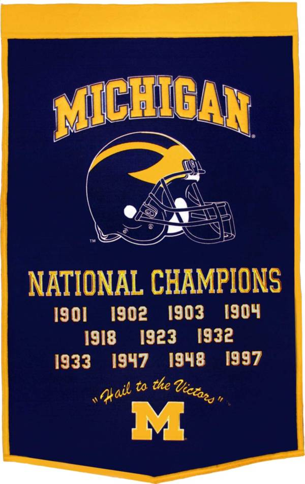 Michigan Wolverines Football National Champions Banner product image