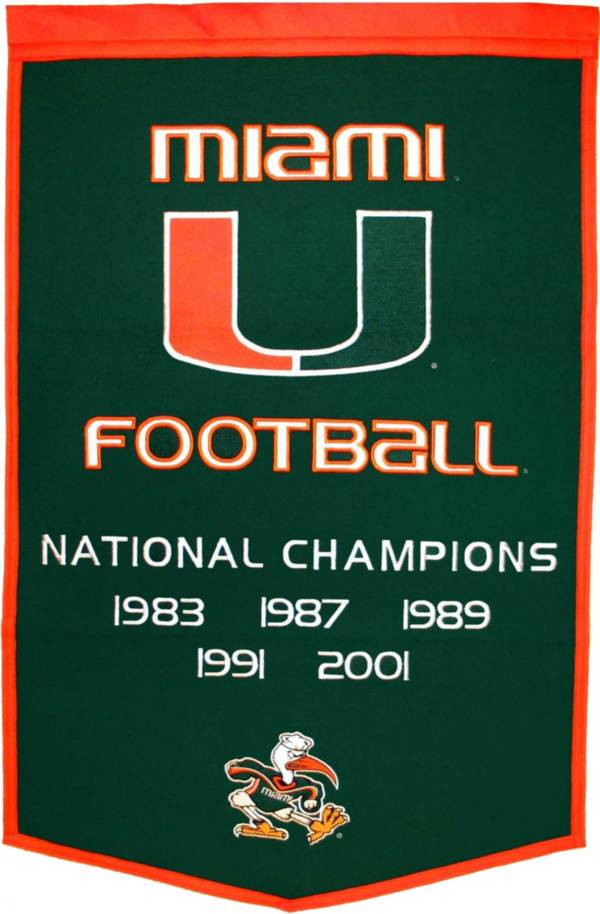Miami Hurricanes Football National Champions Banner product image