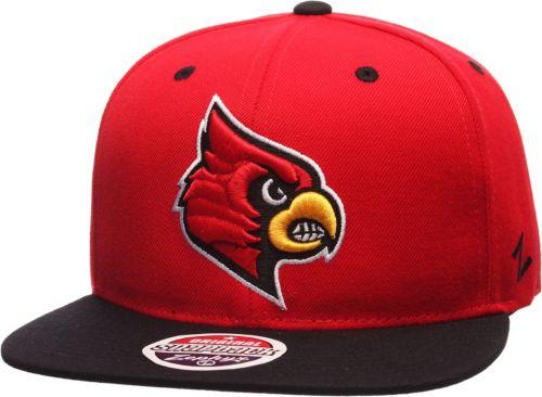 12b628f6b8c1b Zephyr Men s Louisville Cardinals Cardinal Red Black Z11 Snapback ...