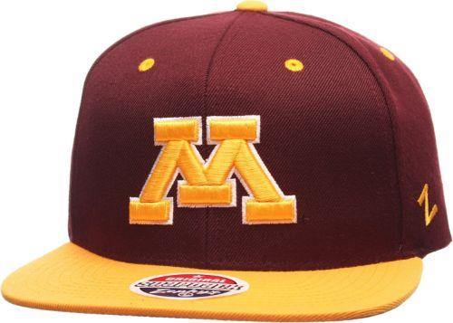 4ef68d331d5e7 Zephyr Men s Minnesota Golden Gophers Maroon Gold Z11 Snapback Hat.  noImageFound. Previous