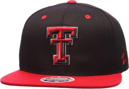 Zephyr Men s Texas Tech Red Raiders Black Red Z11 Snapback Hat ... 04fba58d4611