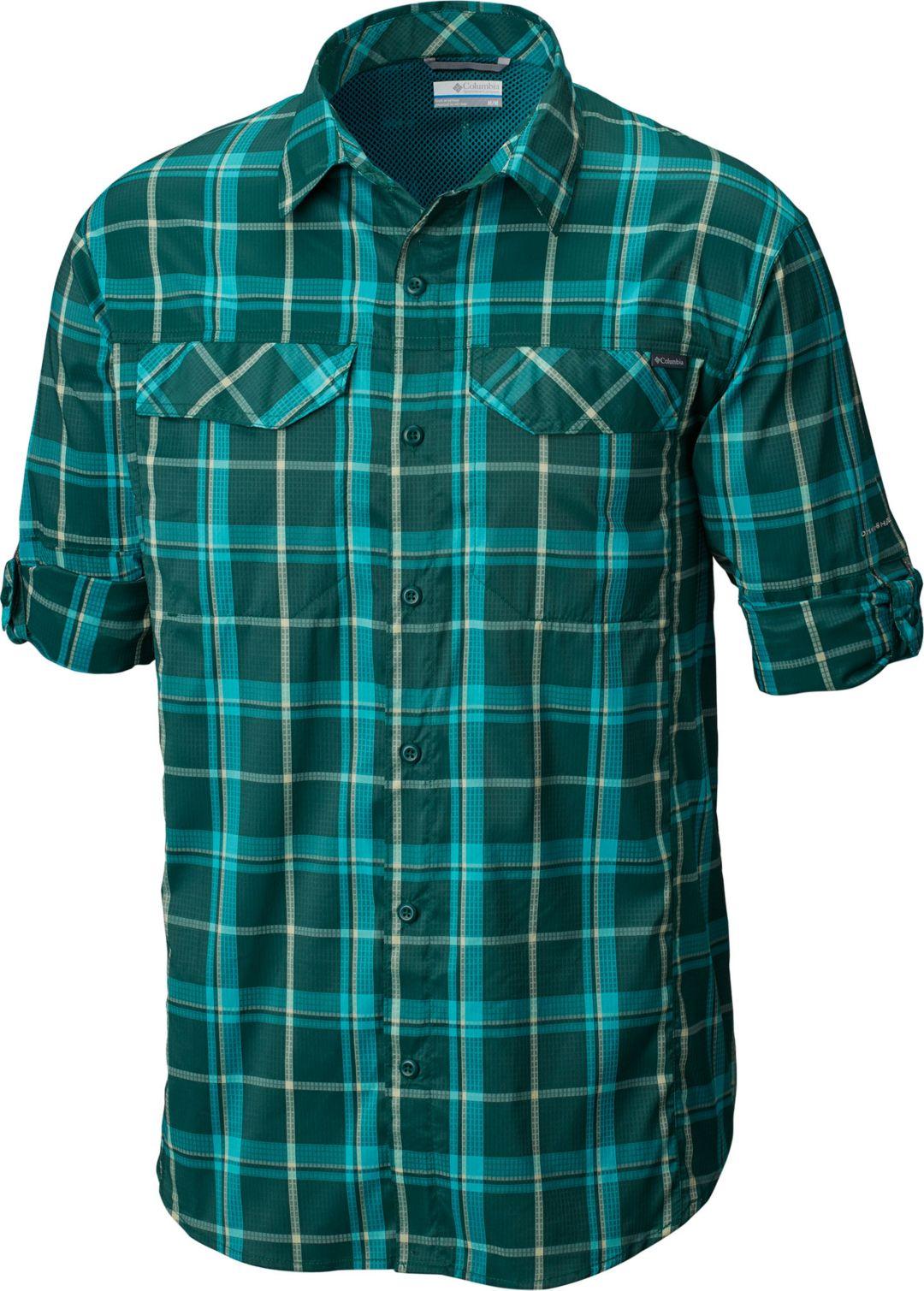 15adc1e0fe4 Columbia Men's Silver Ridge Lite Plaid Long Sleeve Shirt   DICK'S ...
