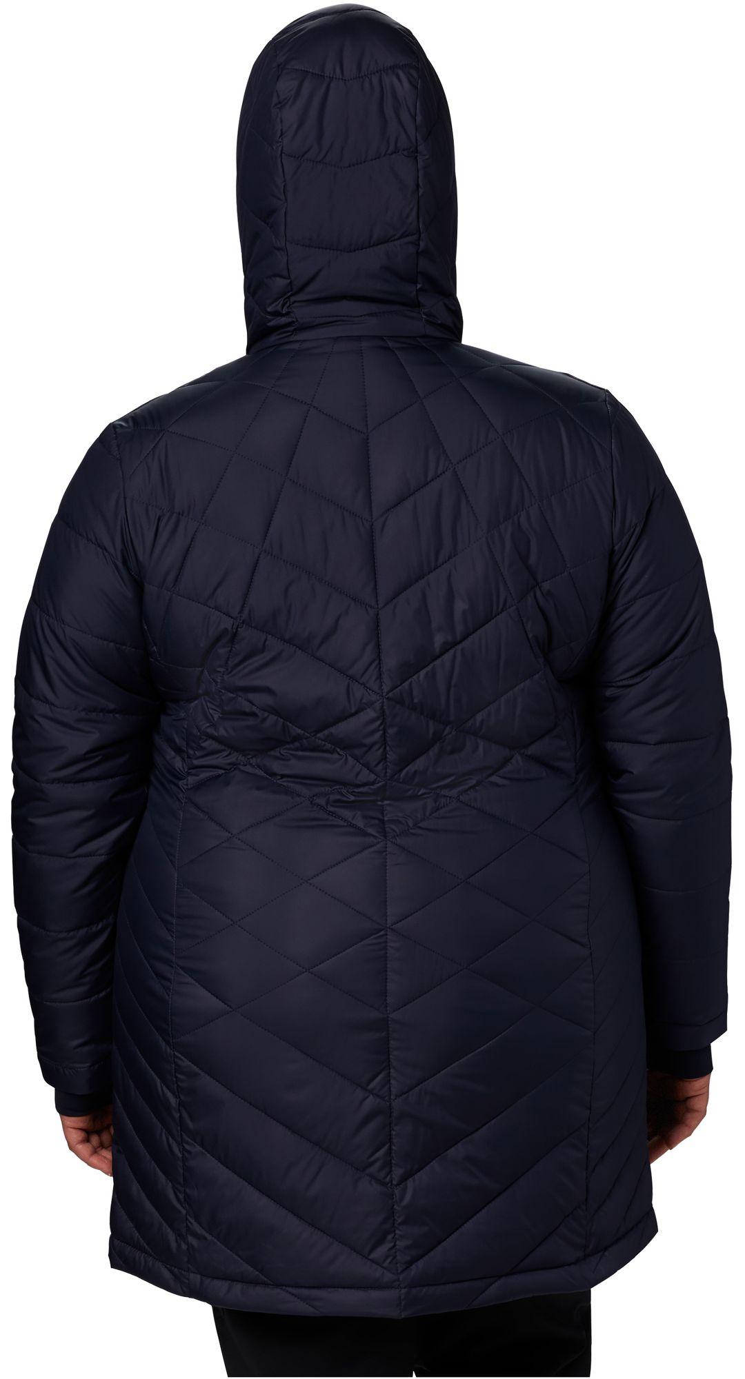 144109797 Columbia Women's Plus Heavenly Long Hooded Down Jacket