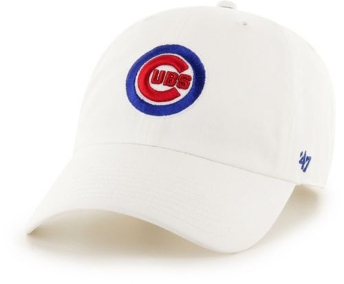 5a72693cafbd0 47 Men s Chicago Cubs Clean Up White Adjustable Hat