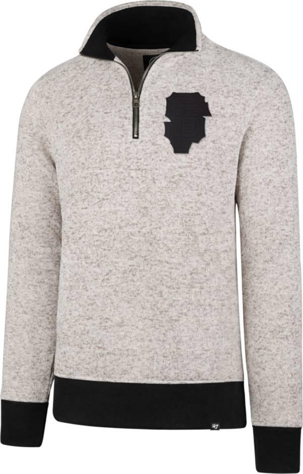 '47 Men's San Francisco Giants Kodiak White Quarter-Zip Pullover product image